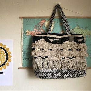 Handbags - World Market Boho Fringe Tote Bag